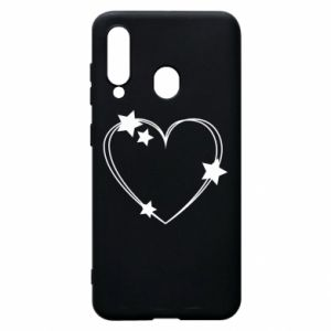 Samsung A60 Case Heart with stars
