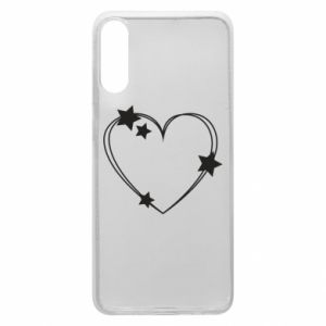 Samsung A70 Case Heart with stars