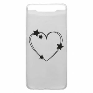 Samsung A80 Case Heart with stars