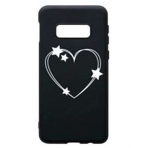 Samsung S10e Case Heart with stars