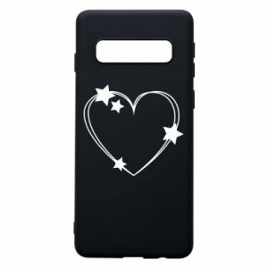 Samsung S10 Case Heart with stars