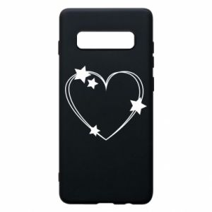 Samsung S10+ Case Heart with stars