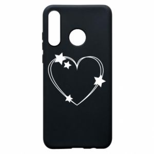 Huawei P30 Lite Case Heart with stars