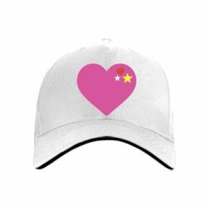 Czapka Różowe serce
