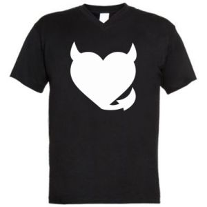 Męska koszulka V-neck Serce diabła