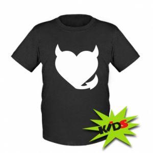 Kids T-shirt Devil's heart