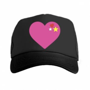 Czapka trucker Różowe serce
