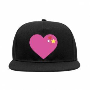 Snapback Różowe serce