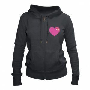 Damska bluza na zamek Różowe serce