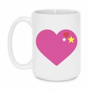 Kubek 450ml Różowe serce
