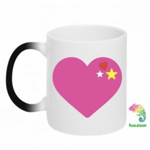 Kubek-kameleon Różowe serce