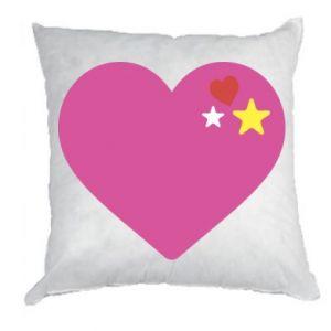 Poduszka Różowe serce