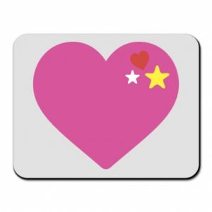Mouse pad Pink heart