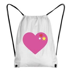 Plecak-worek Różowe serce