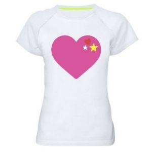 Damska koszulka sportowa Różowe serce