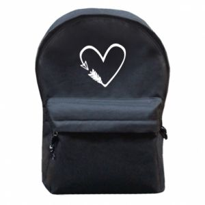 Backpack with front pocket Heart