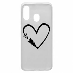 Samsung A40 Case Heart