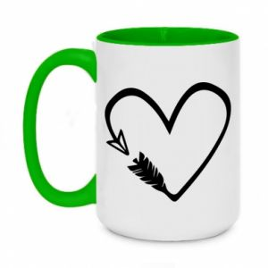 Two-toned mug 450ml Heart