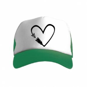 Kid's Trucker Hat Heart