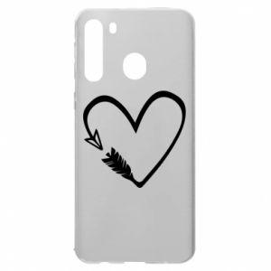 Samsung A21 Case Heart