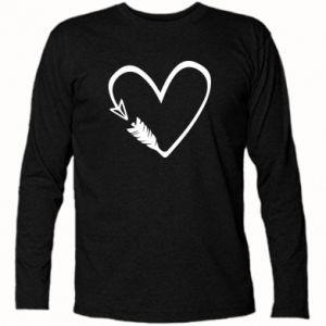 Koszulka z długim rękawem Serce