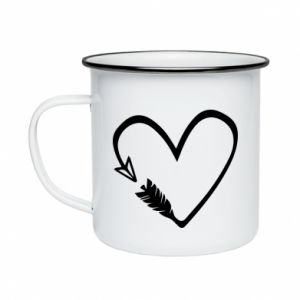 Enameled mug Heart
