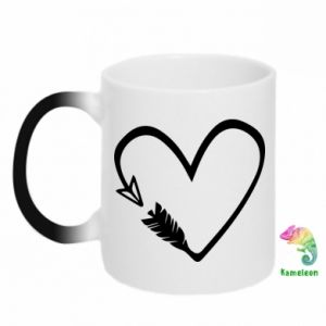 Chameleon mugs Heart