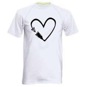 Men's sports t-shirt Heart
