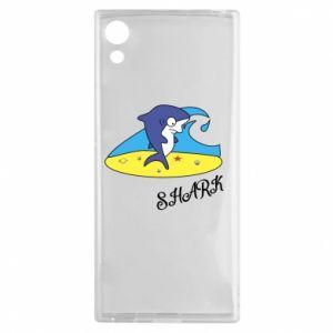 Etui na Sony Xperia XA1 Shark on the beach