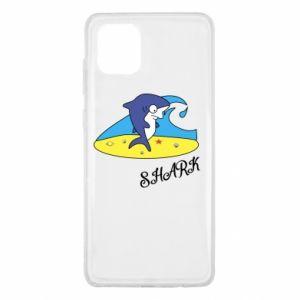 Etui na Samsung Note 10 Lite Shark on the beach
