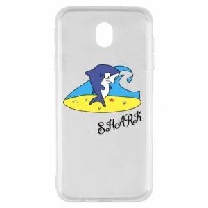 Etui na Samsung J7 2017 Shark on the beach