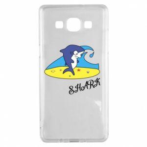 Etui na Samsung A5 2015 Shark on the beach