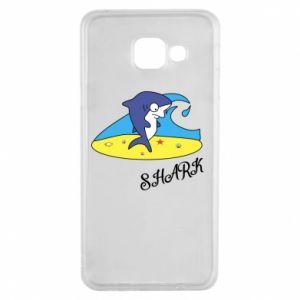 Etui na Samsung A3 2016 Shark on the beach