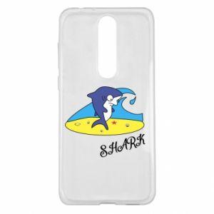 Etui na Nokia 5.1 Plus Shark on the beach