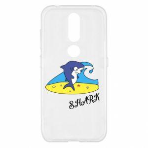 Etui na Nokia 4.2 Shark on the beach