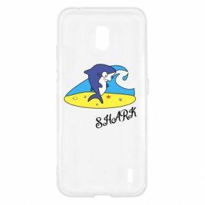 Etui na Nokia 2.2 Shark on the beach