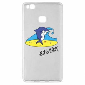 Etui na Huawei P9 Lite Shark on the beach