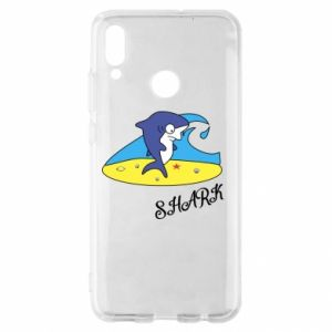 Etui na Huawei P Smart 2019 Shark on the beach
