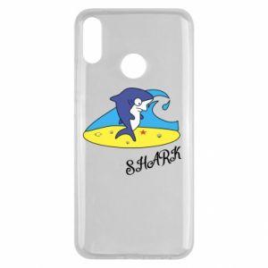 Etui na Huawei Y9 2019 Shark on the beach