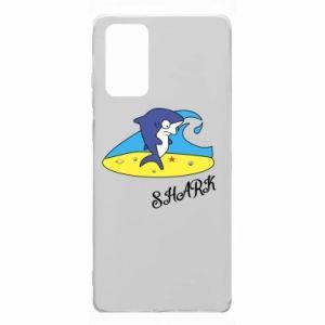 Etui na Samsung Note 20 Shark on the beach