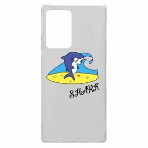 Etui na Samsung Note 20 Ultra Shark on the beach