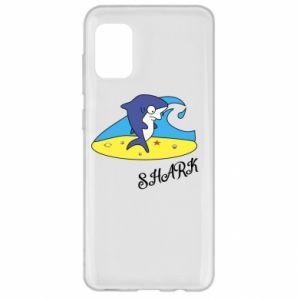 Etui na Samsung A31 Shark on the beach