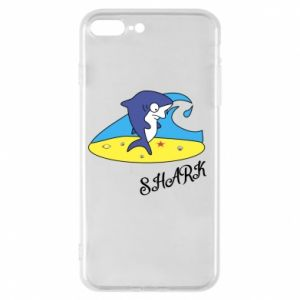 Etui na iPhone 8 Plus Shark on the beach
