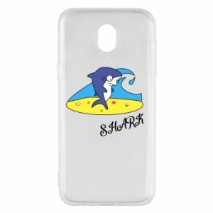 Etui na Samsung J5 2017 Shark on the beach