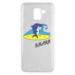 Etui na Samsung J6 Shark on the beach