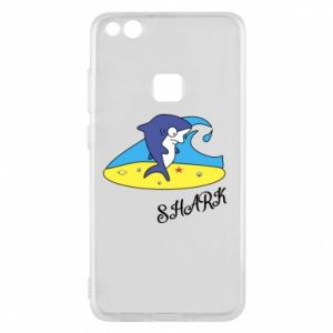 Etui na Huawei P10 Lite Shark on the beach