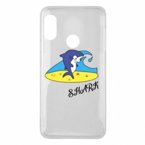 Etui na Mi A2 Lite Shark on the beach