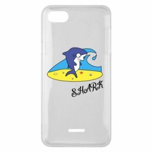 Etui na Xiaomi Redmi 6A Shark on the beach