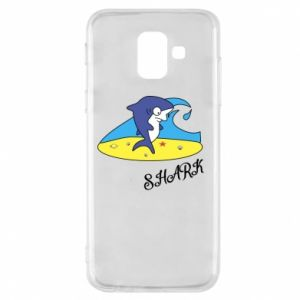 Etui na Samsung A6 2018 Shark on the beach