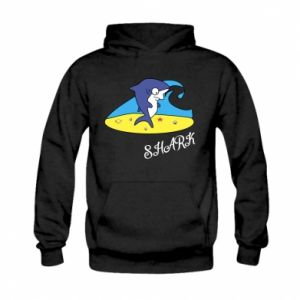 Bluza z kapturem dziecięca Shark on the beach
